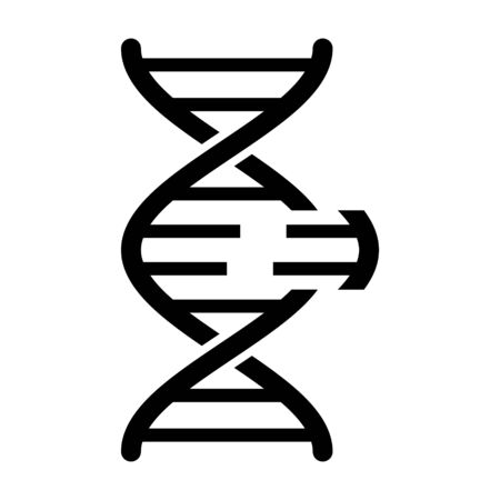 DNA genetic engineering or gene / genome editing flat vector icon for science apps and websites