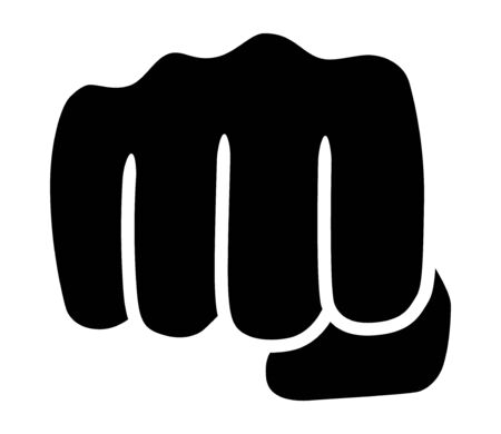 Punch or fist fight flat vector icon for fighting apps and websites