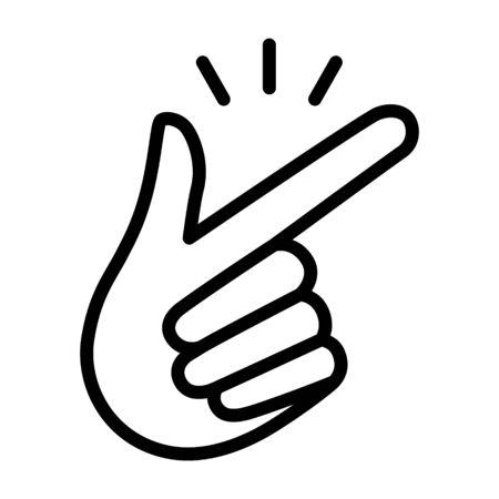 Schiocca le dita o schiocca le dita con il gesto della mano icona vettoriale per app e siti web