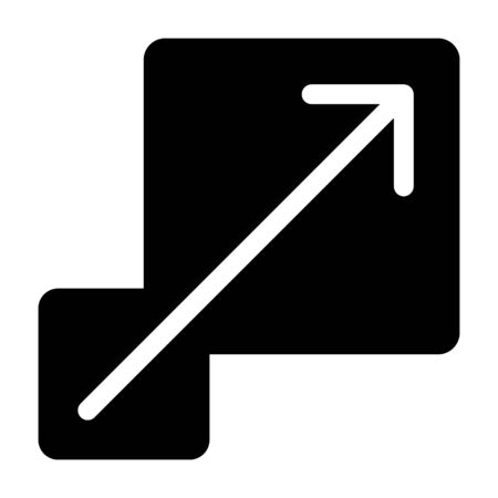 Scalability or scalable system flat vector icon for apps and websites