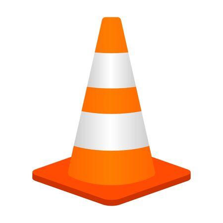 Icône de couleur vectorielle plate de cône de circulation ou de pylône de route pour les applications et les sites Web