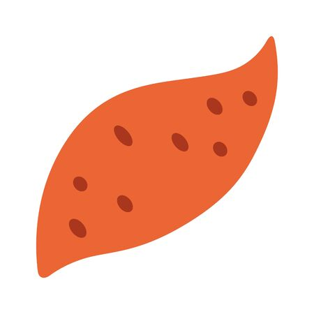 Yam or sweet potato / sweetpotato flat vector color icon for food apps and websites
