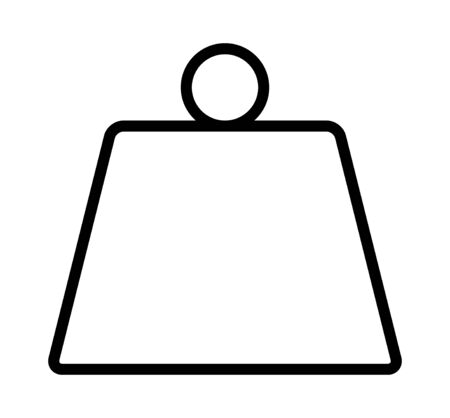 Metal weight of heavy mass line art vector icon for apps and websites