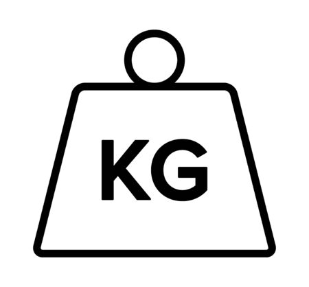 Unit of kilogram mass constant line art vector icon for apps and websites
