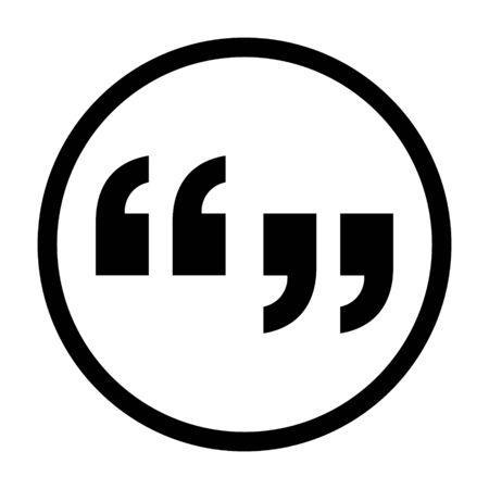 Discussion quotes or discuss line art vector icon for forum apps and websites Vektoros illusztráció