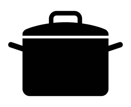 Cooking pot or stockpot  stock pot flat vector icon for cooking apps and websites Ilustração