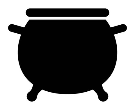 Cauldron / caldron cooking pot flat vector icon for games and websites