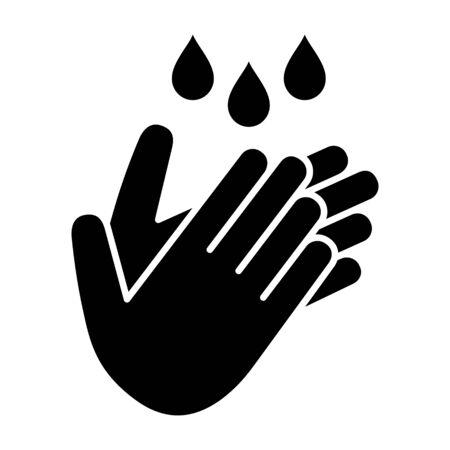 Se laver / se laver les mains pour garder une icône vectorielle plate et propre pour les sites Web et l'impression