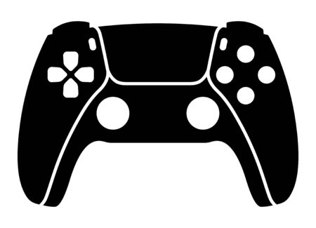Next generation game controller or gamepad flat vector icon for gaming apps and websites