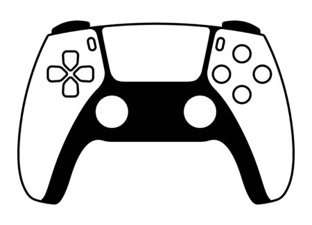 Next generation game controller or gamepad vector icon for gaming apps and websites