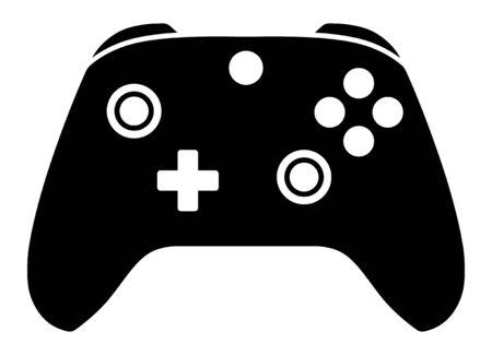 Erweitertes Gamecontroller- oder Gamepad-Flachvektorsymbol für Gaming-Apps und -Websites