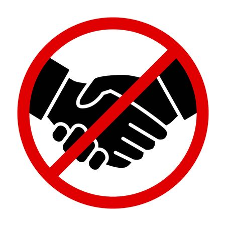 No handshake sign or no deal agreement flat vector icon for print and websites Stock Illustratie
