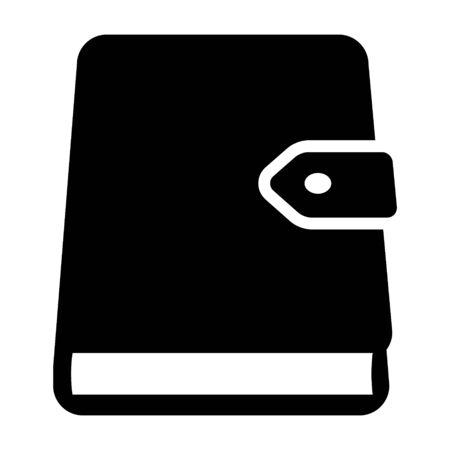 Journal ou journal quotidien avec fermoir icône vectorielle plate pour les applications et les sites Web Vecteurs