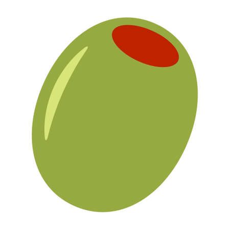 Green olive fruit flat vector color icon for food apps and websites Stock Illustratie