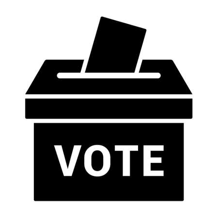 Vote ballot box for voting flat vector icon for apps and websites Stock Illustratie