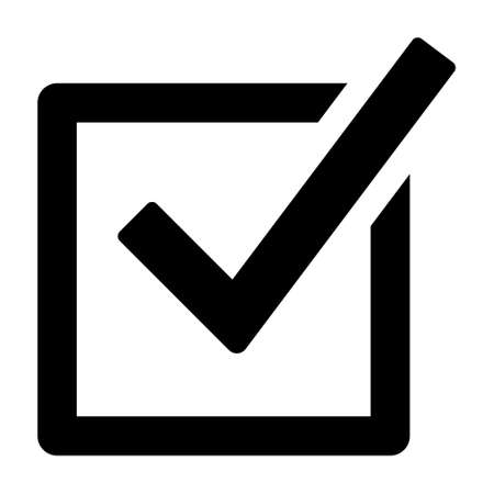Checked checkbox or vote / voting flat vector icon for election apps and websites