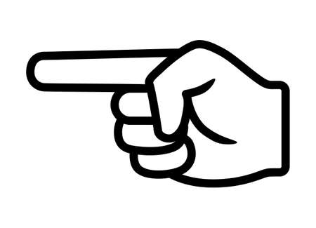 Finger pointing / point hand gesture line art vector icon for apps and websites