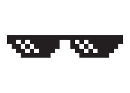 Thug life / deal with it sunglasses / glasses flat vector icon for apps and websites
