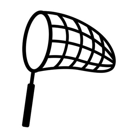Butterfly net for catching bugs and insects line art vector icon for apps and websites Illusztráció