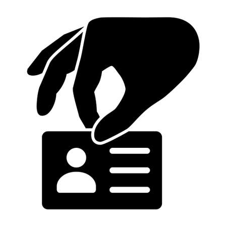 Identity theft or identity fraud flat vector icon for apps and websites