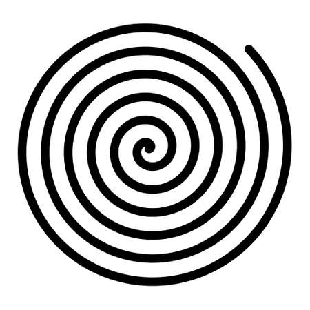Archimedean spiral curve shape line art icon for apps and websites