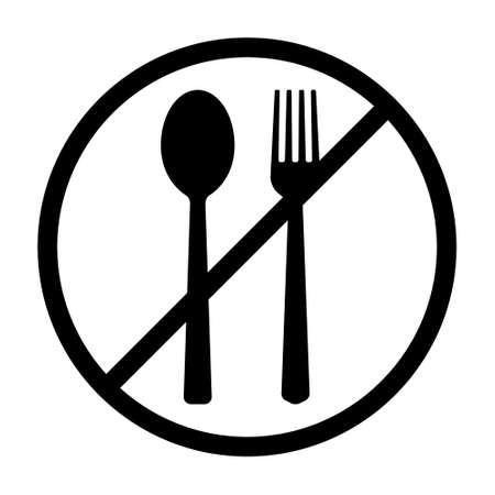 Food fasting or foot ban line art vector icon for food apps and websites Illusztráció