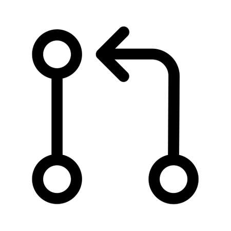Pull request or merge branch line art icon for apps and websites Vektoros illusztráció