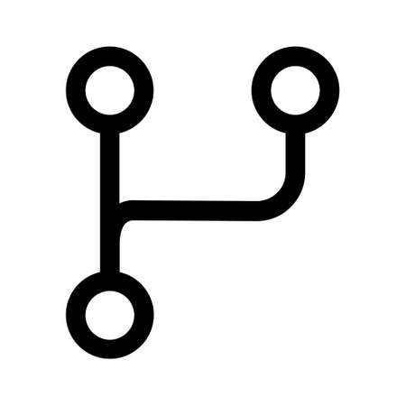 Switch to a different branch line art icon for apps and websites Vektoros illusztráció