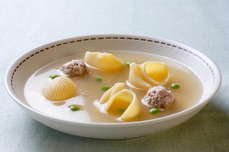 Typical Catalan soup recipe. Escudella i carn dolla Stock Photo