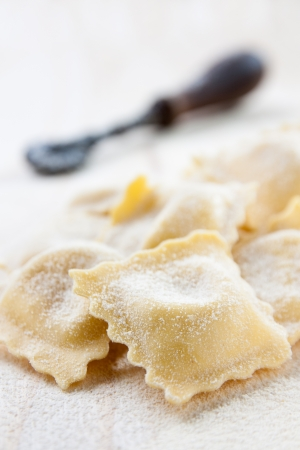 ravioli with meat and vegetables raw homemade