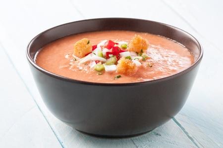 Delicious bowl of homemade gazpacho