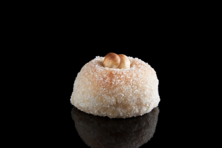 Hazelnut panellet isolated on black photo