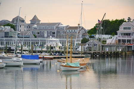 cape cod: Wychmere Harbour, harwich, Cape Cod Stock Photo
