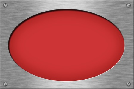 Metal plate series: oval. With room for text.