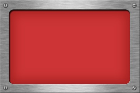 Metal plate series: rectangle. With room for text. Stock Photo