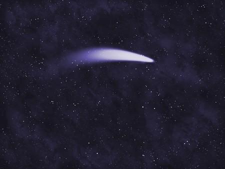 Starfield serie: komeet. Stockfoto