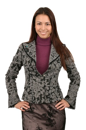 Attractive young business woman.