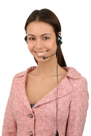 Friendly, attractive operator with headset. Stock Photo - 4087933