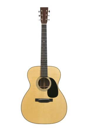 High-end steel-string acoustic guitar (Martin &, Co). Logo removed