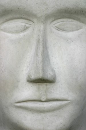Stone face.