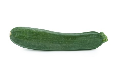 Courgettezucchini. Isolated on white.