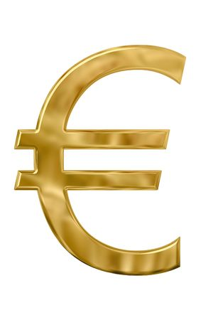 Gold or golden euro sign Stock Photo