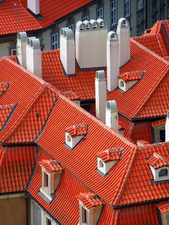 lesser: Red roofs (Lesser Town, Prague)