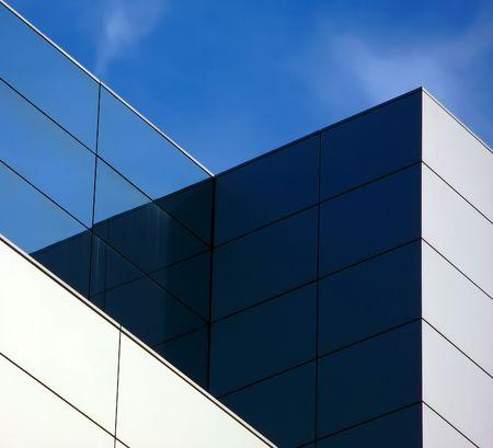 reflecting: geometric building