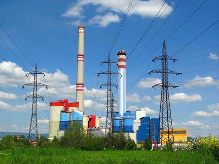 Kohle-Verbrennung Kraftwerk Lizenzfreie Bilder
