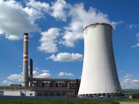 Kohle-Verbrennung Kraftwerk  Editorial