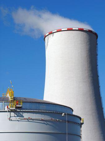technologic: power station Stock Photo