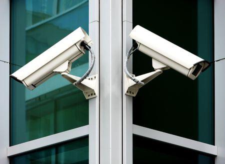 city surveillance: security cameras Stock Photo