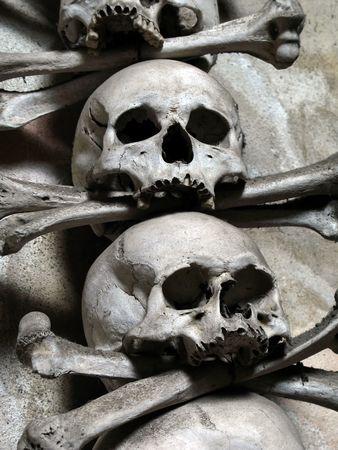 mortal: skulls and bones Stock Photo