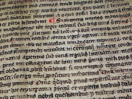 medieval writing Stock Photo